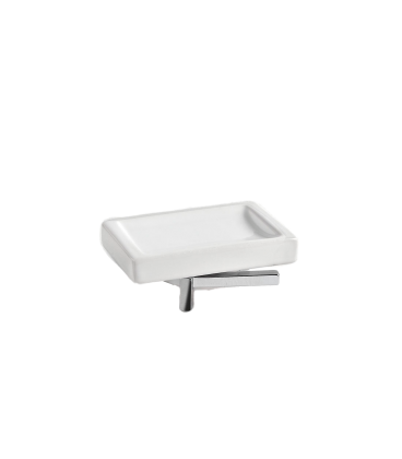 Ceramic standing soap dish holder Plano