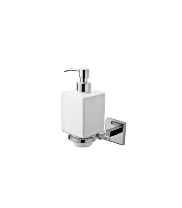 Wall mounted ceramic soap dispenser holder Plano