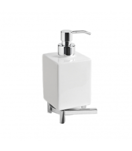 Ceramic standing soap dispenser holder Rho
