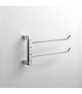Wall mounted double towel holder Cipro