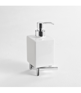 Ceramic standing soap dispenser holder Cipro