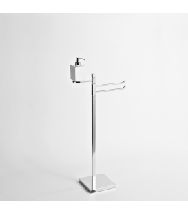 Towel holder with soap dispenser Cipro