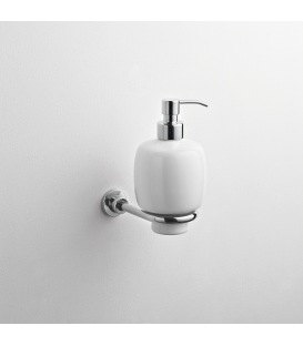 Wall mounted ceramic soap dispenser holder Alfa