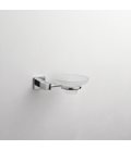Frosted glass soap dish holder Creta
