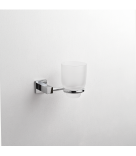 Frosted glass tumbler holder Creta