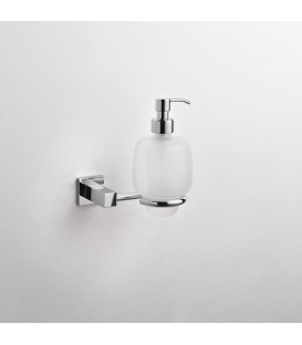 Frosted glass soap dispenser holder Creta