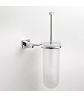 Frosted glass wall-mounted toilet brush holder Creta