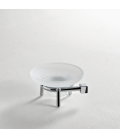 Frosted glass standing soap dish holder Creta