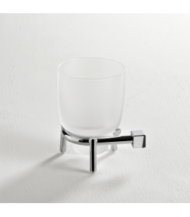 Frosted glass standing tumbler holder Creta