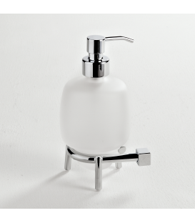 Frosted glass standing soap dispenser Creta