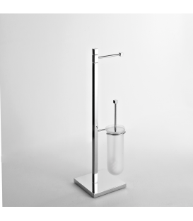 Toilet stand Frosted glass toilet brush holder Creta