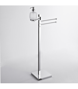 Towel holder with soap dispenser Creta