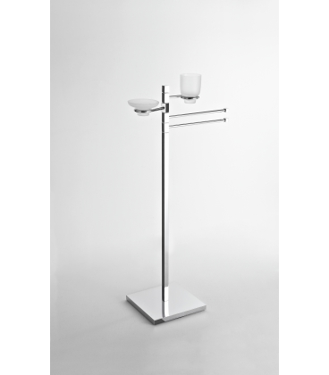 Towel holder with soap dish and tumbler Cipro