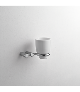 Bathroom wall mounted ceramic tumbler holder Kios