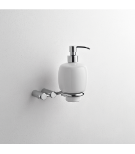 Wall mounted ceramic soap dispenser holder Kios