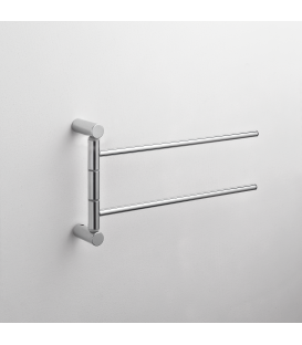 Wall mounted double towel holder Kios