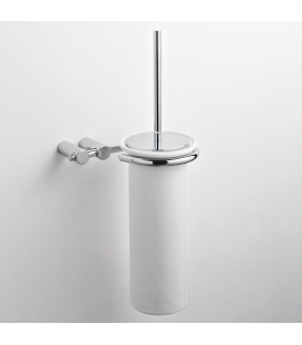 Ceramic wall-mounted toilet brush holder Kios