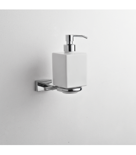 Wall mounted ceramic soap dispenser holder Naxos