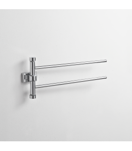 Wall mounted double towel holder Naxos