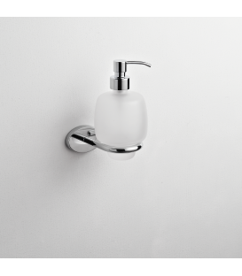 Frosted glass soap dispenser holder Syros