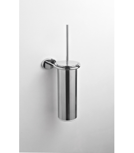 Brass wall-mounted toilet brush holder Syros