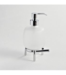 Frosted glass standing soap dispenser Syros