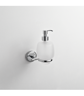 Frosted glass soap dispenser holder Milo