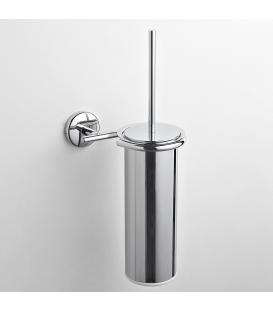 Brass wall-mounted toilet brush holder Milo