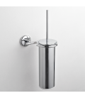 Brass wall-mounted toilet brush holder Milo