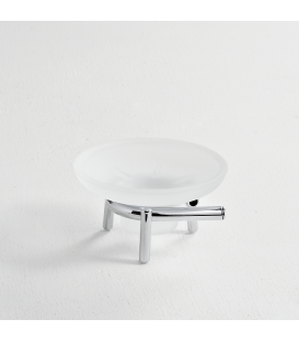 Frosted glass standing soap dish holder Milo