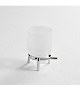 Frosted glass standing tumbler holder Milo