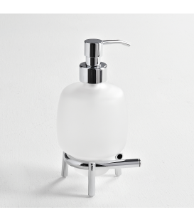 Frosted glass standing soap dispenser Milo