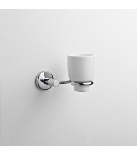 Bathroom wall mounted ceramic tumbler holder Idra