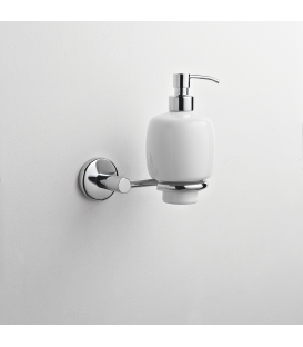 Wall mounted ceramic soap dispenser holder Idra