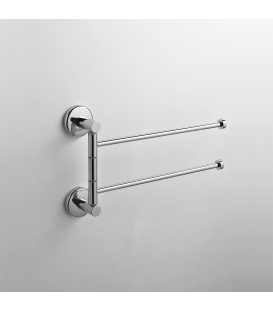 Wall mounted double towel holder Idra