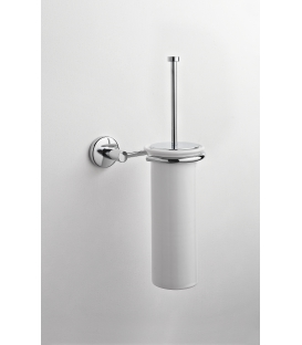 Ceramic wall-mounted toilet brush holder Idra