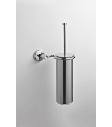 Brass wall-mounted toilet brush holder Idra