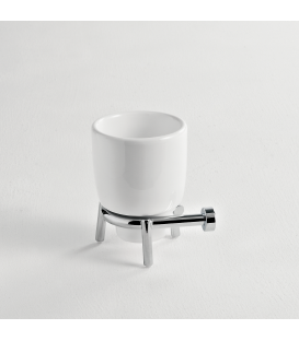 Ceramic standing tumbler holder Idra