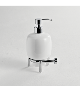 Ceramic standing soap dispenser holder Idra