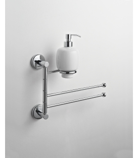 Wall-mounted bidet stand Ceramic soap dispenser Idra