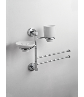 Wall-mounted toilet stand Ceramic toilet brush holder Idra