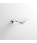 Frosted glass soap dish holder Paros