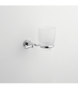 Frosted glass tumbler holder Paros