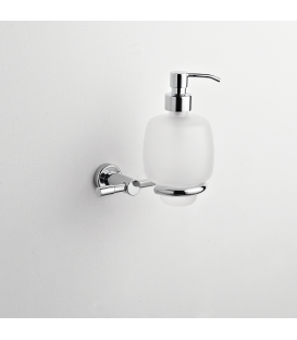 Frosted glass soap dispenser holder Paros