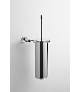 Brass wall-mounted toilet brush holder Paros