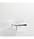 Frosted glass standing soap dish holder Paros
