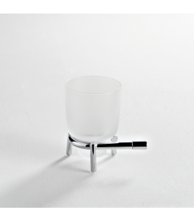 Frosted glass standing tumbler holder Paros