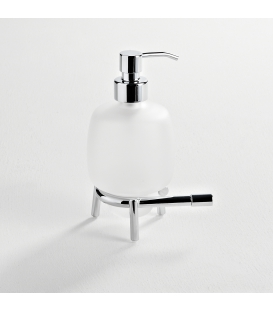 Frosted glass standing soap dispenser Paros