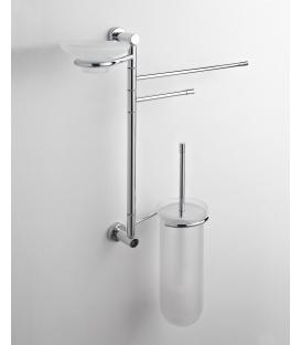 Wand-Toilettenpapierhalter, Toilettenbürste und Paros Porzellan Seifenschale