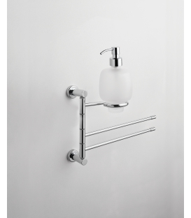 Wall-mounted bidet stand Ceramic soap dispenser Paros